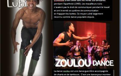 4 et 5 novembre 2017 – Stage de danse africaine Afrique du sud avec Diwele Lubi – Fontvieille