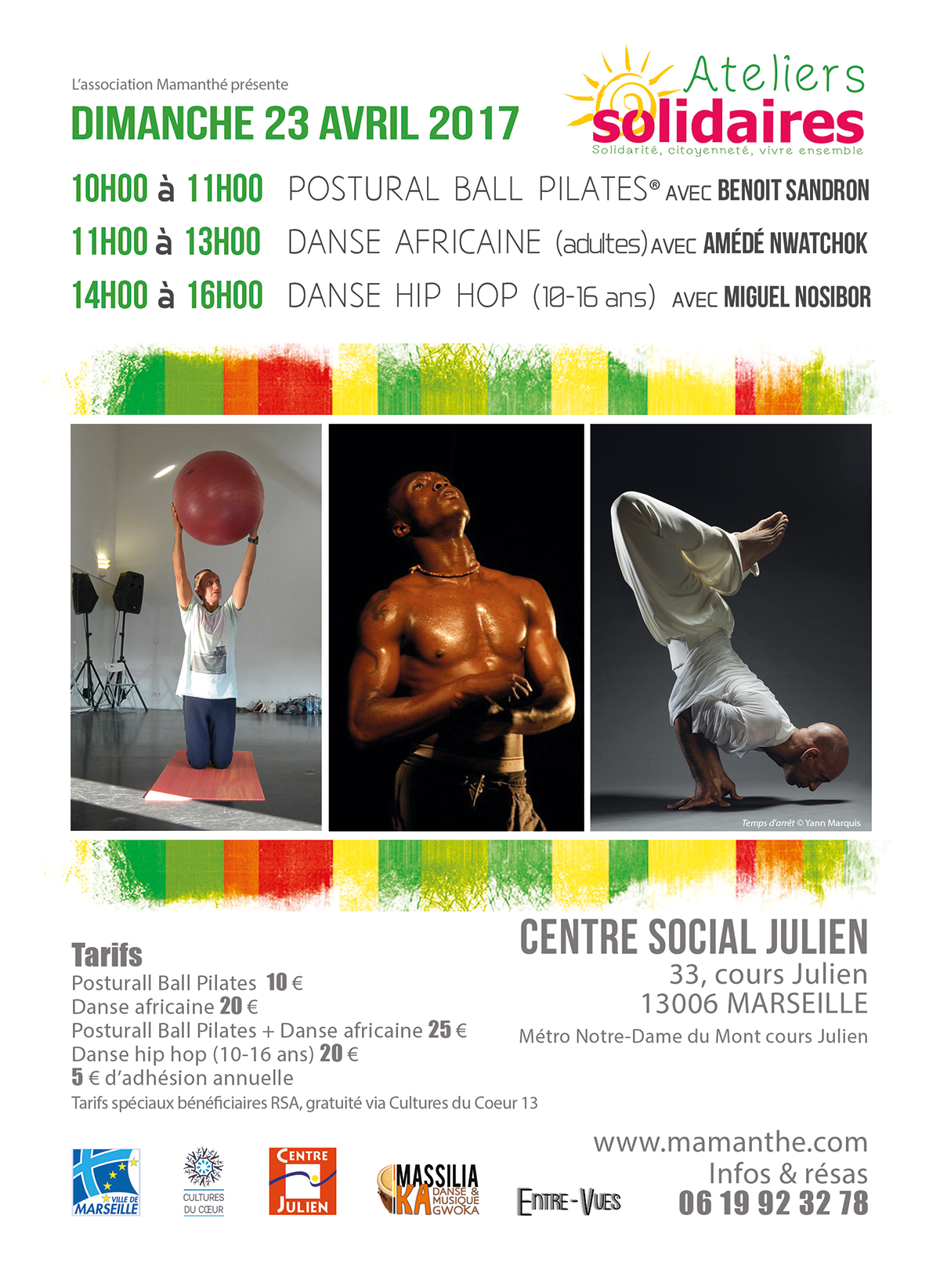 Dimanche 23 avril 2017 – Ateliers Solidaires – Marseille