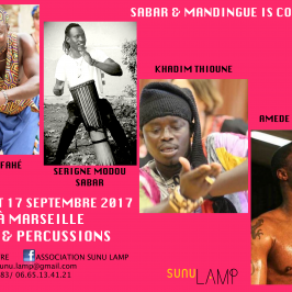 16 et 17 septembre 2017 – Stages danse et percussion Sabar et Mandingue