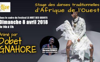 Dimanche 8 avril 2018 – Stage de danse avec Dobet Gnahoré
