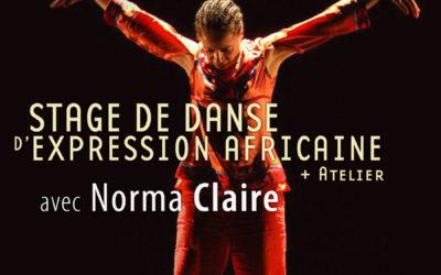 31 mars, 1er et 2 avril 2018 – Stages et ateliers avec Norma Claire