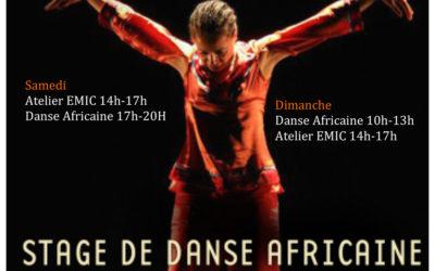 13 et 14 octobre 2018 – Stages de danse africaine avec Norma Claire