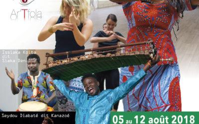 Du 5 au 12 août 2018 – Stages danse et musique africaine