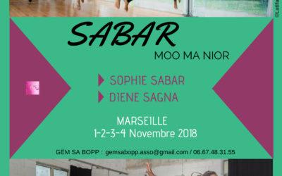 Du 1 au 4 novembre 2018 – danse sabar
