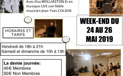 Du 24 au 26 mai 2019 – stage de danse AFRICAINE avec Elsa WOLLIASTON